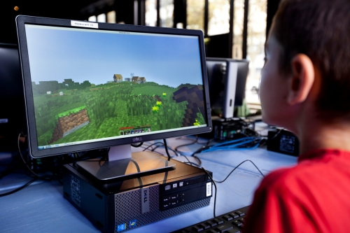 Minecraft 100 at the Powerhouse Museum. Courtesy Thinkspace