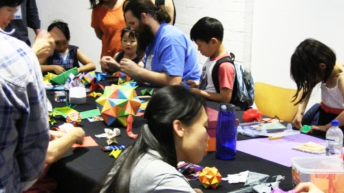 Sydney Origami Club at the 2013 Sydney Mini Maker Faire.