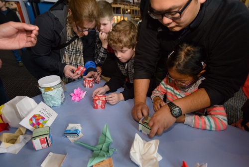 Sydney Origami at Sydney Mini Maker Faire 2015. Photo courtesy of Museum of Applied Arts & Sciences.