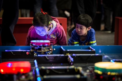 CREATE UNSW at the 2015 Sydney Mini Maker Faire. Photograph courtesy of Museum of Applied Arts & Sciences.